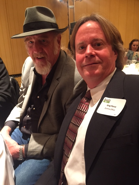 Zuma President Greg Pierce With Nine Time Grammy Award Winner Ray Benson At  The Austin Gives